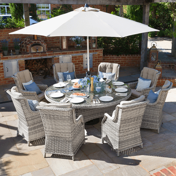 Nova Oyster 8 Seat Dining Set 1 8m, Home And Garden Furniture