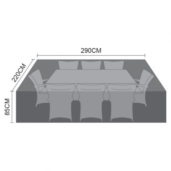 Cover Pack For 8 Seat Rectangular Dining Set Cover