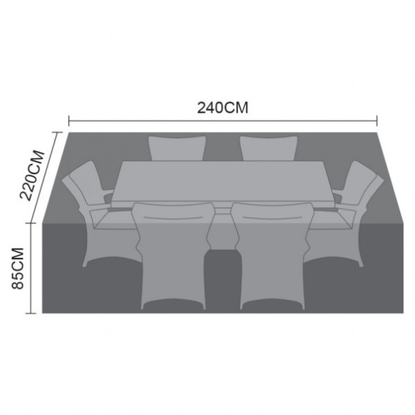 Cover Pack for 6 Seat Rectangular Dining Set