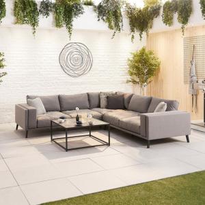 Nova - Infinity Outdoor Fabric Corner Sofa Set - Flanelle