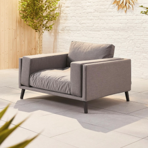 Infinity Outdoor Fabric Lounge Armchair - Flanelle