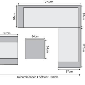 Nova - Infinity Outdoor Fabric Corner Sofa Set with 1 Armchair - Flanelle